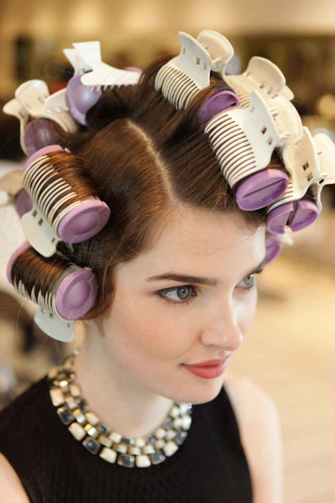 purple hot rollers