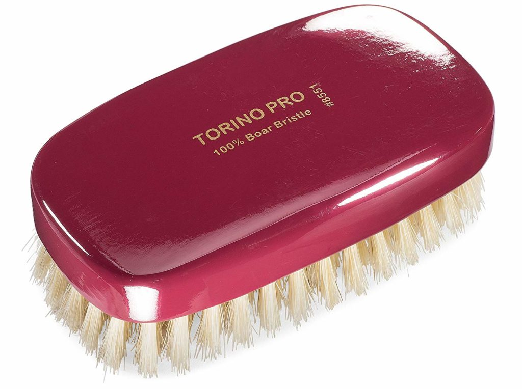 Torino Pro #8551 by Brush King - Soft Square Palm Wave Brush for 360 Waves