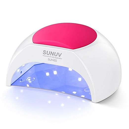 SUNUV SUN2C 48W LED UV nail Lamp For Gel Nails and Toe Nail Curing