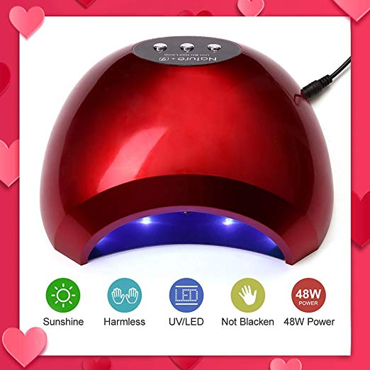 Red Nail Dryer 48W UV LED Nail Curing Lamp by NATPLUS