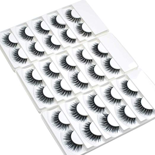Wleec Beauty 3D Faux Mink False Lashes Handmade Natural Eyelash