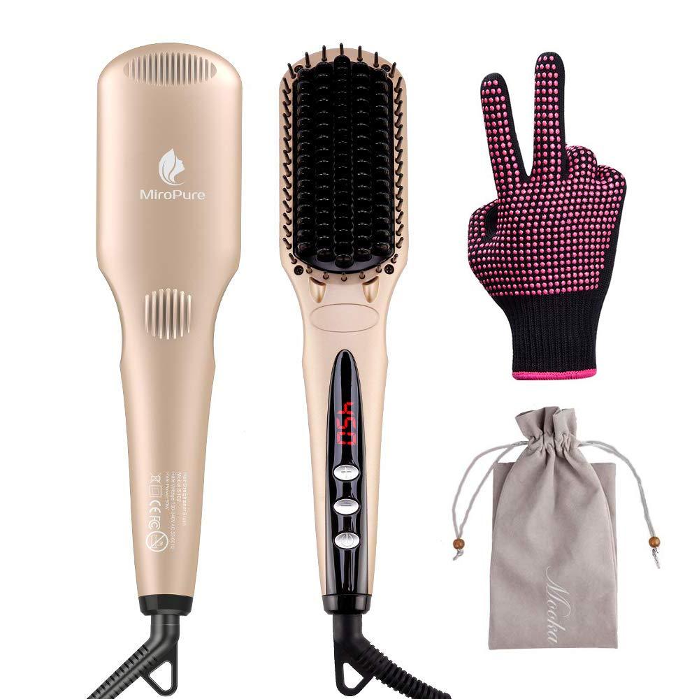 MiroPure Enhanced Hair Straightener Brush