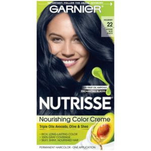 Garnier Nutrisse Nourishing Color Creme Intense Blue Black 22