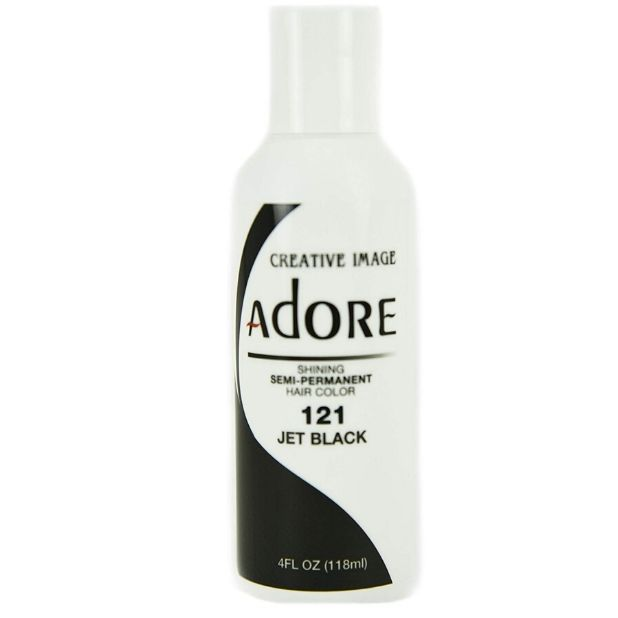 ADORE Creative Image Shining SEMI-PERMANENT Hair Color 121 Jet Black