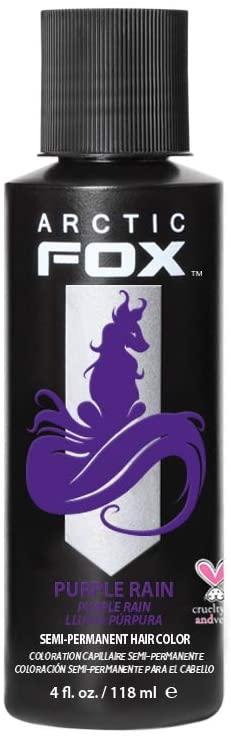 Arctic Fox Cruelty Free 100% Vegan Semi Permanent Hair Colour Dye, Purple Rain