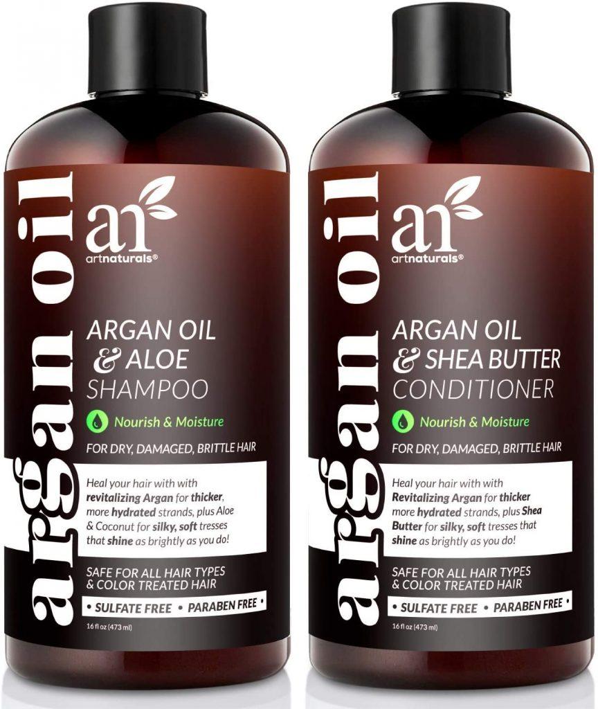ArtNaturals Organic Moroccan Argan Oil Shampoo and Conditioner Set