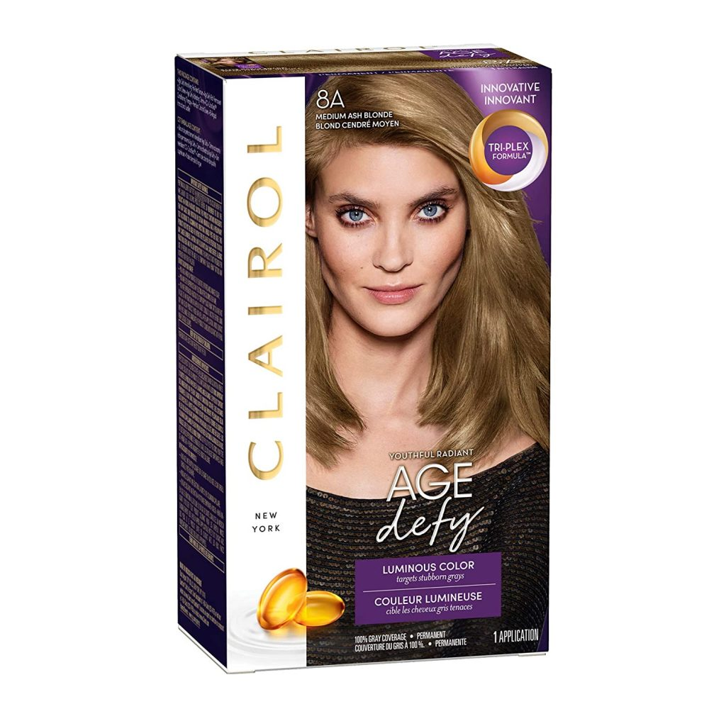 Clairol Age Defy Permanent Hair Color, 8A Medium Ash Blonde