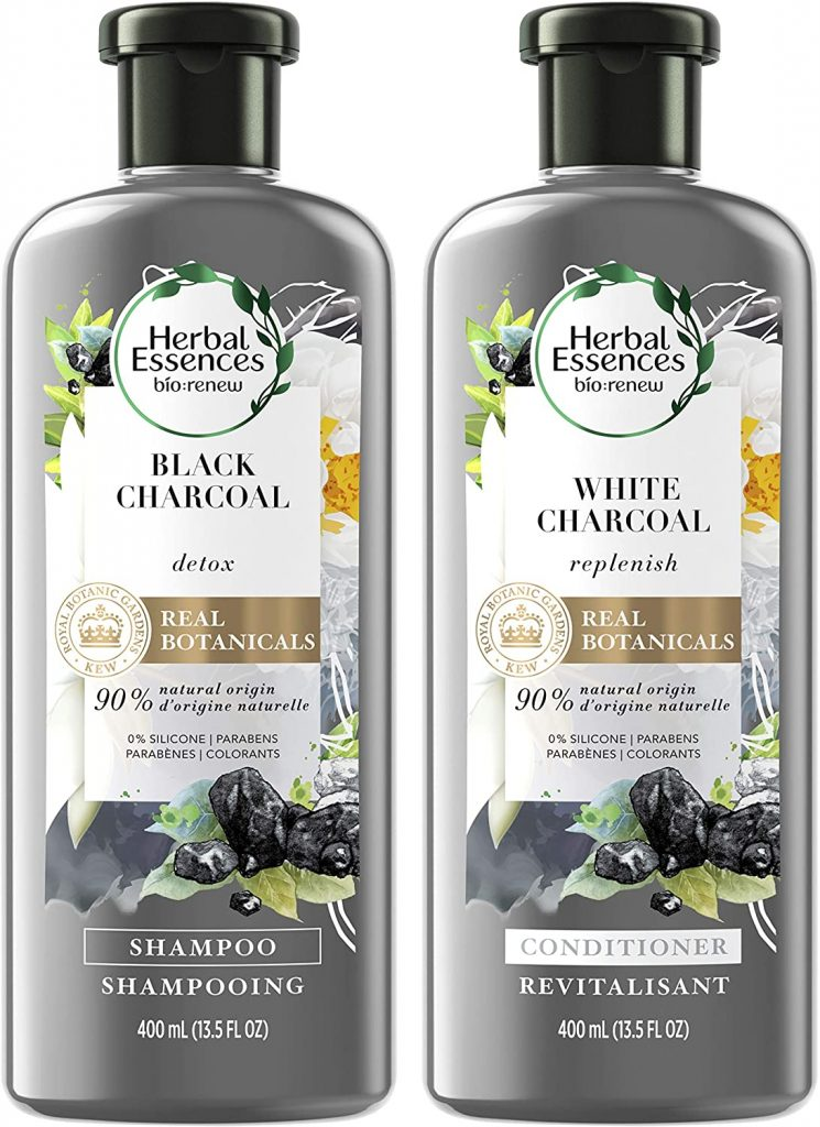 Herbal Essences Black Activated Charcoal Shampoo and White Charcoal Conditioner Set