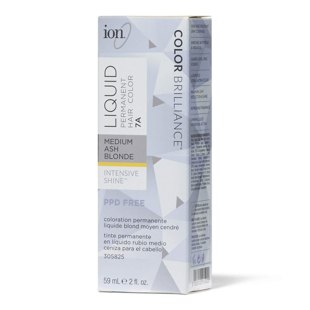Ion 7A Medium Ash Blonde Permanent Liquid Hair Color