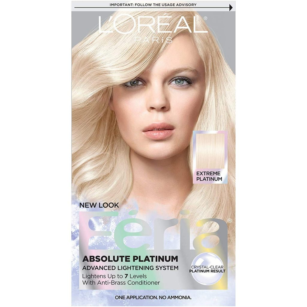 L'Oreal Paris Feria Multi-Faceted Shimmering Permanent Hair Color, Extreme Platinum