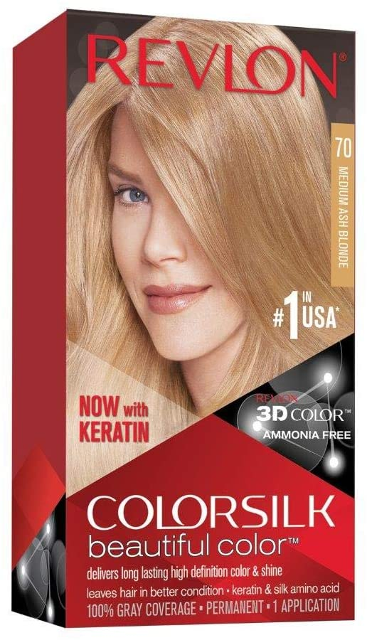 Revlon ColorSilk Hair Color 70 Medium Ash Blonde