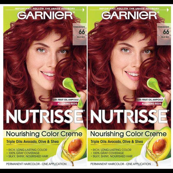 Garnier Nutrisse Nourishing Hair Color Creme, 66 True Red
