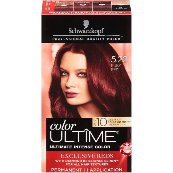 Schwarzkopf Ultime Hair Color Cream, 5.22 Ruby Red