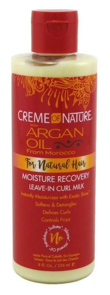 Creme of Nature with Argan Buttermilk leave-in hair milk