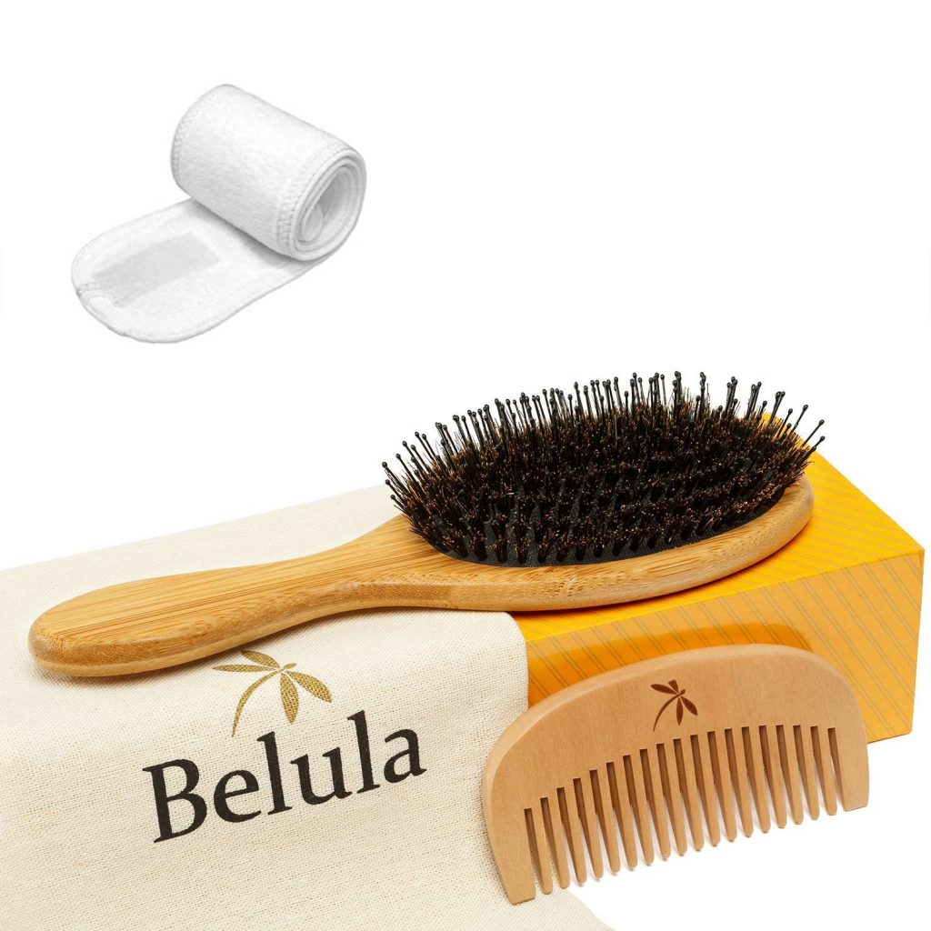 Detangling Boar Bristle Hair Brush Set