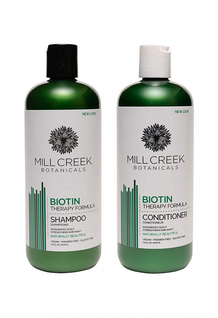 Mill Creek Botanicals Biotin Shampoo and Conditioner Hair Growth Bundle