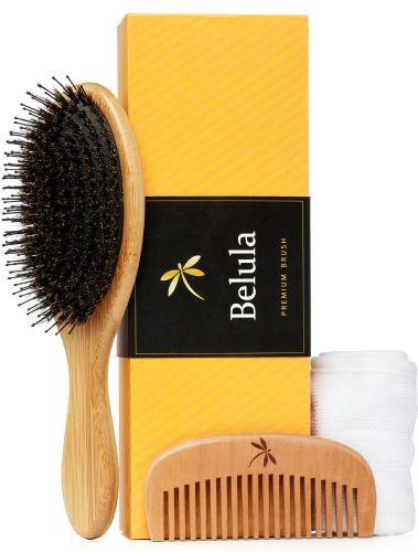 Detangling Boar Bristle Hair Brush Set
