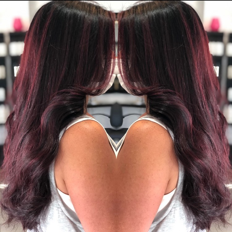 Winter violet locks