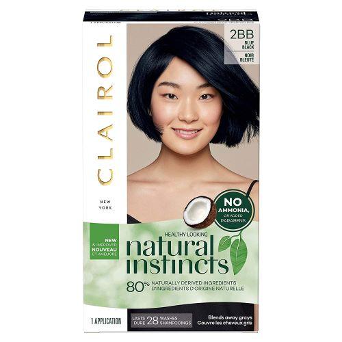 Clairol Natural Instincts Crema Keratina Hair Color Kit- 2B Blue Black