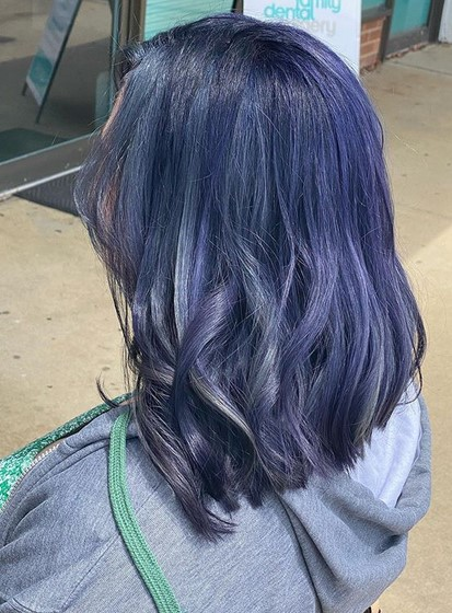Denim colored hair