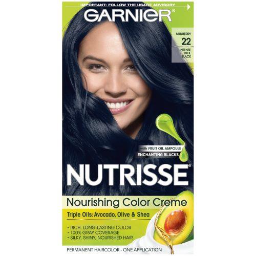 Garnier Nutrisse Nourishing Color Crème- Intense Blue Black