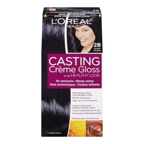 L'Oreal Healthy Look Crème Gloss Hair Color- 2B Blue Black