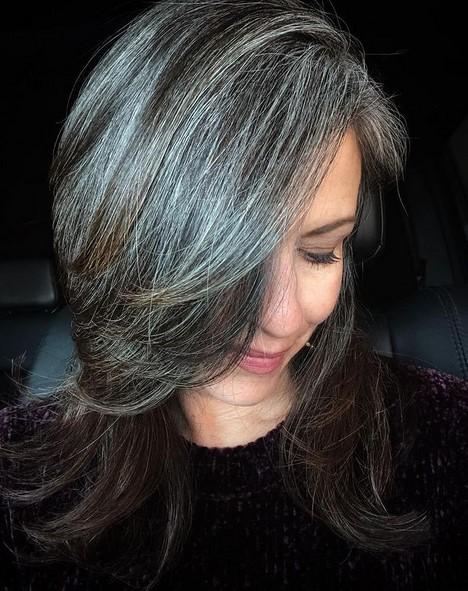 Layered shaggy hair
