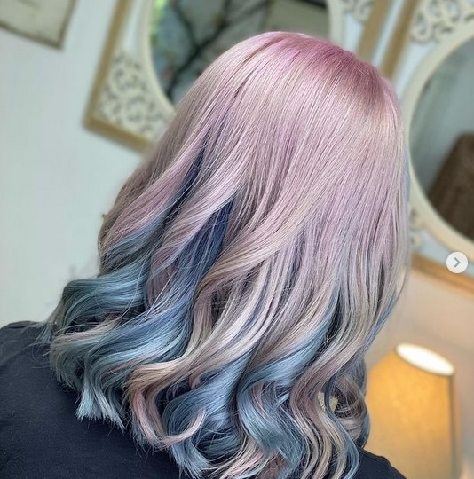 chemically colored hair