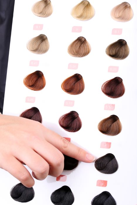 hair color number vertical
