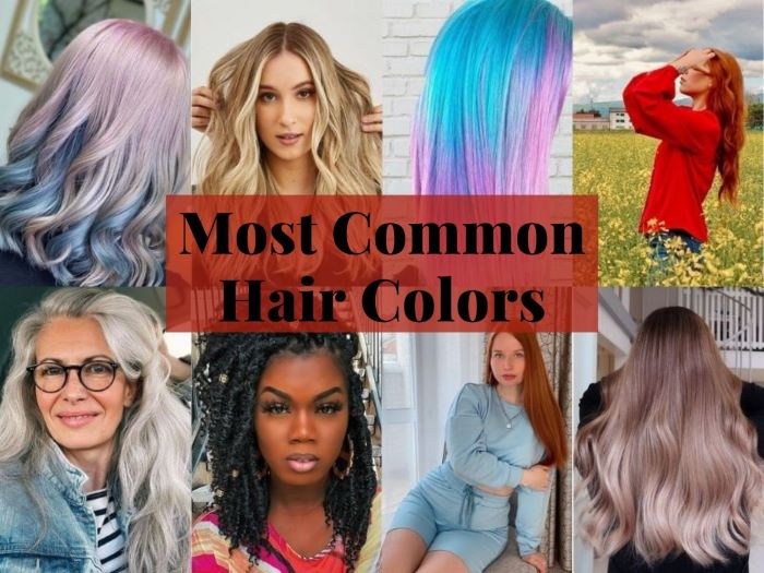 Most common hair colors