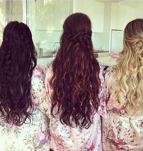 natural hair colors - black, brown, blonde, and red