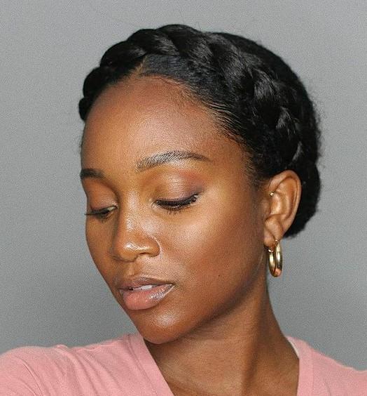 Halo braid for natural hair