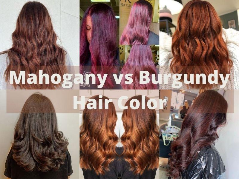 Mahogany vs Burgundy Hair Color