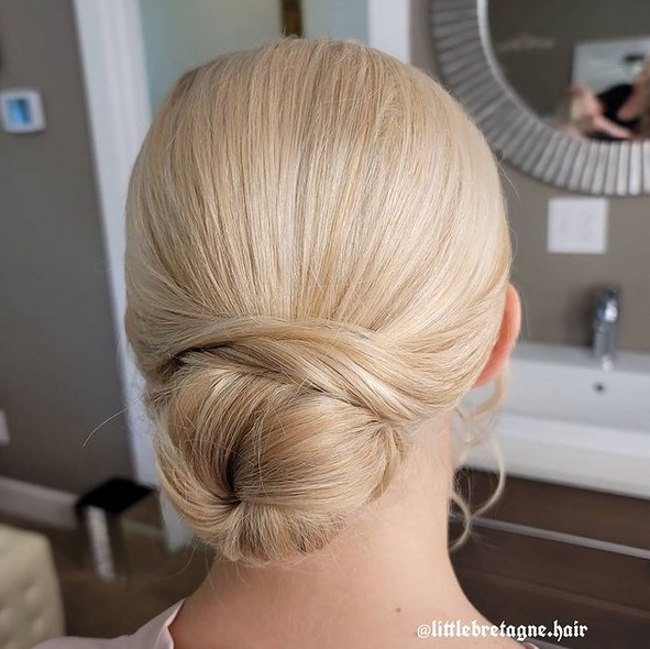 Twisted updo for short to medium hair